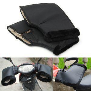 Motorcycle Handle Bar Winter Warm Muffs Protective Gloves Waterproof Black