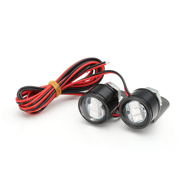 Pair Motorcycle LED Hawkeye Light Constant Mirror Mount Eagle Eye DRL Tail Lamp