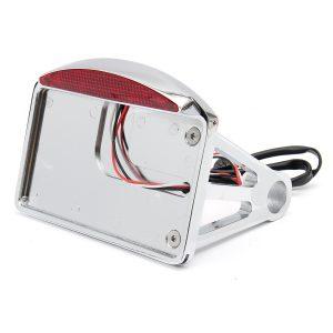 Motorcycle License Plate LED Tail Light Horizontal SidE-mount Bracket For Harley