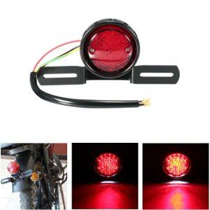 DC 12V Motorcycle LED Tail Stop Brake Rear Light Lamp For Harley Bobber Chopper Cafe Racer