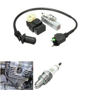 Scooter ATV Ignition Coil AC CDI Box Spark Plug For GY6 50cc 125cc 150cc