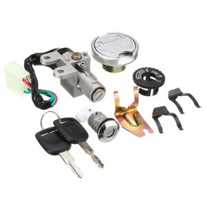 GY6 50cc Universal Ignition Lock Switch Fuel Tank Cap Key Set For Scooter Moped Bike