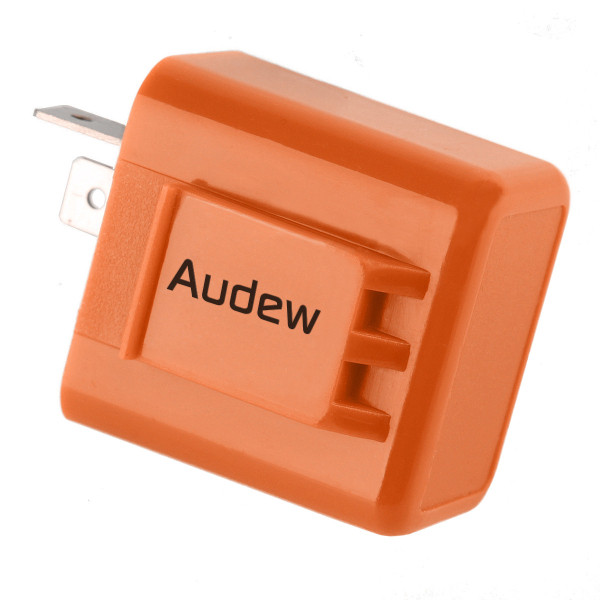 2-Pin Speed Adjustable LED Flasher Relay Fix Motorcycle Turn Signal Hyper Flash