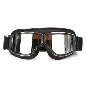 Helmet Leather Goggles Anti-UV Protective Glasses Eyewear Motorcycle Bike Scooter
