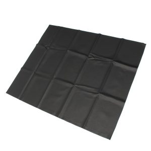 Universal 90X67.5cm/35.4X26.6in Motorcycle Leather Seat Cover Scooter Vehicle Cushion Hood Black