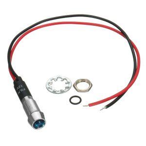 12V 8mm LED Indicator Metal Warning Light Lamp Pilot Panel Dash Car Boat Truck Motorcycle