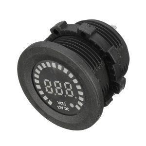 12V LED Digital Voltage Socket Meter Display Panel Volt Meter For Auto Car Motorcycle