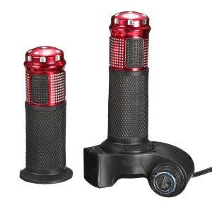 24V 36V 48V 60V Handlebar Grip Throttle LED Digital Meter For E-bike Electric Scooter With Key Switc