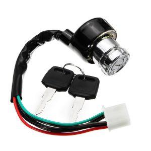 Ignition Switch Starter With Keys 6 Wires 3 Gears For Motorcycle ATV UTV Go Kart Dirt Bike