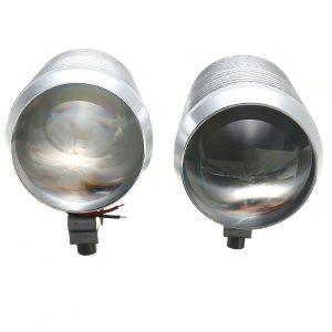 Pair 30W DC 12-60V Motorcycle Headlight U2 LED Driving Headlamp Fog Light + Switch High/Low Beam