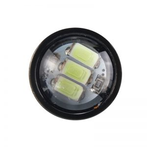 Pair 12V Spot Lightt LED Flashlight Motorcycle Headlight Daytime Running Light
