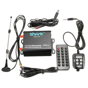 Motorcycle Class D Stereo Audio System Amplifier Music For SHKC7120 800W 2-CH