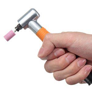 90 Degree 3mm Pneumatic Micro Air Die Angle Grinder Mini Polishing Rotary Kit
