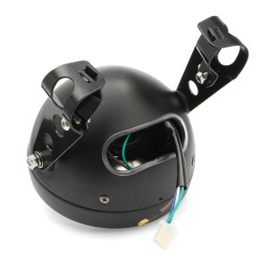 6.5 inch 12V Motorcycle Headlight Hi/lo Beam Matte Black Mount Bracket Cafe Racer For Honda