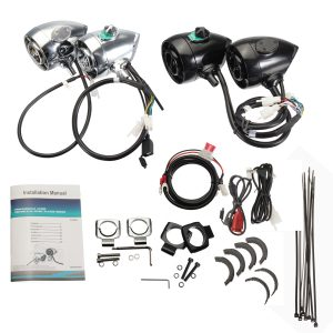 Motorcycle Mp3 Speaker Audio Stereo System Handlebar Mount with bluetooth Function