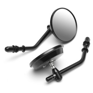 """Pair 3 Round Motorcycle Rear View Mirrors Aluminum Classic Retro For Davidson Ryca XL Sportster Softail"""""""