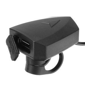36V-100V 48V 5V 2A Handlebar Phone GPS USB Charger For E-scooter Bike Mount Clamp