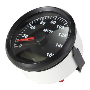 85MM Black Stainless Steel GPS Speedometer 0-160MPH For Car Truck Motorcycle