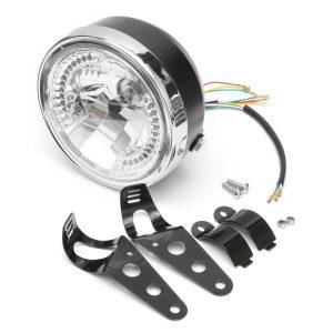 8inch Universal Motorcycle H4 Headlight Led Turn Signal Indicators Light Bracket
