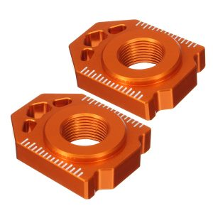 Pair CNC Rear Axle Spindle Chain Adjuster Blocks For SX EXC XCW 125-530 20mm