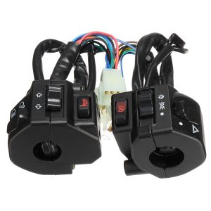 12V Motorcycle 22mm Handlebar Headlamp Switch Horn Turn Signal Electrical Start Switch