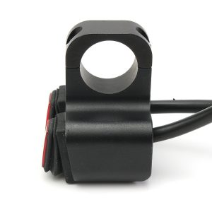 12V Motorcycle Light On Off Switch with Pilot Lamp Handlebar Waterproof ATV Headlight