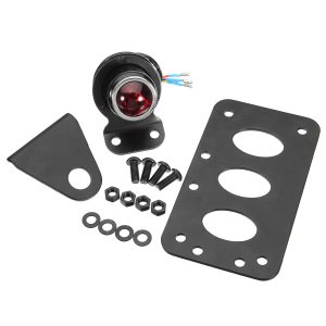 12V Motorcycle Side Mount LED License Plate Tail Light with Bracket Universal