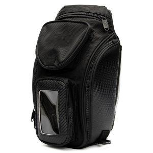 Motorcycle Oil Fuel Tank Bag Magnetic Multi Layer Black Universal 3825cm Waterproof