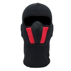 Motorcycle Face Mask For Men Outdoor Helmet Ski Sport Neck Hood Black Red Gray