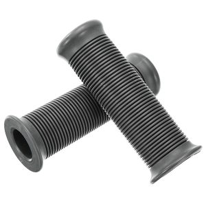 25mm Motorcycle Handlebar Hand Grips Grey Cafe Racer Bubber Clubman Custom