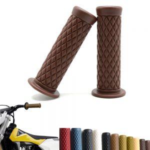 25mm Motorcycle Handlebar Hand Grip Black Cafe Racer Bubber Clubman Custom For Honda/Harley