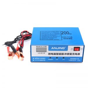 12V 24V 200AH 220W Car Motorcycle Battery Charger Pulse For Lead Acid Lithium Battery