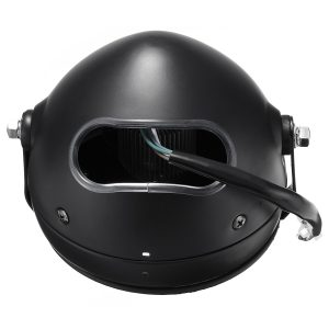 6.5inch Grill Retro Vintage Motorcycle LED Side Mount Headlight Cafe Racer Bobber