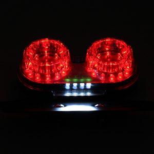 License Plate LED Brake Dual Tail Turn Signal Lights For Bobber Cafe ATV Chopper