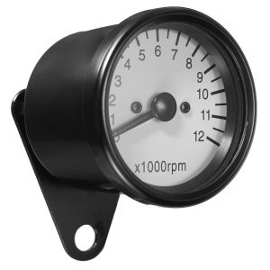 12000RPM LED Tachometer Speedometer Gauge With Bracket 10mm Mounting