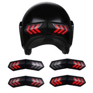 12V Wireless Motorcycle Helmet LED Brake Turn Signal Light Indicator