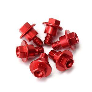 6pcs Red Bolt Fork Guard For Yamaha/Suzuki/Kawasaki/Honda CRF250/125/450/XR250/400/CR85R