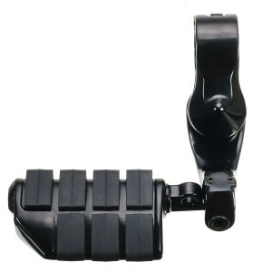 1.25inch/32mm Black Foot Adjustable Pegs Pedal Long Angled For Harley-Davidson