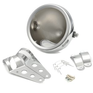 5.75inch Motorcycle Round Headlight Lamp Bucket Housing Shell+Clamp For Harley