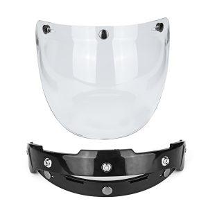 Open Face Motorcycle Helmet Bubble Visor Lens