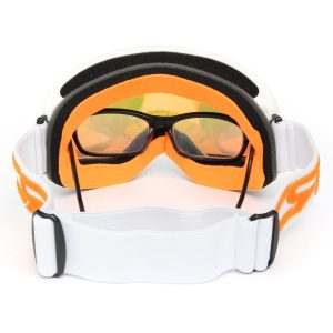 REVO Red Goggles Double Lens For Motorcycle Cycling Skiing Snowmobile White Frame