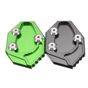 CNC Motorcycle Side Stand Kickstand Enlarge Plate Pad For Kawasaki GTR1400 ZX14R 08-15