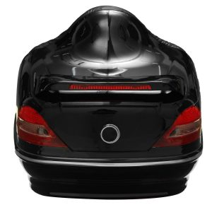 26L Motorcycle Trunk Tail Box with Taillight Black For Harley Honda Yamaha Suzuki Vulcan Cruiser