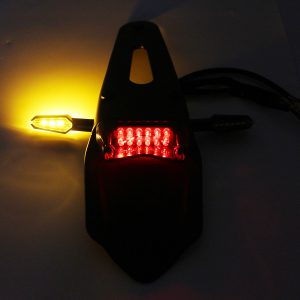 12V Motorcycle Enduro LED Rear Fender Brake Tail Light With Turn Signals Universal