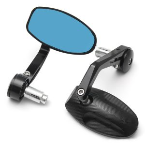 CNC Motorcycle Bar End Rearview Side Mirrors For 7/8inch 22mm Handlebar Moped Dirt Bike