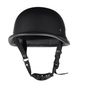 Motorcycle German Style Half Face Helmet Motocross Matte Black M/L/XL