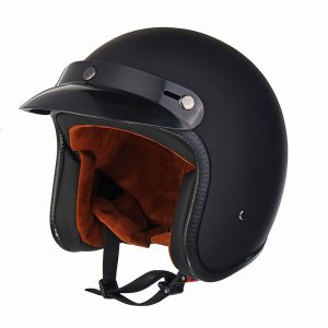 Black/White ABS Motorcycle Vintage Helmet Open Face