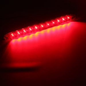 15Inch DC12V Red 4 Wires 11 LED Light Bar Stop Turn Tail 3rd Brake Lights for Truck Trailer
