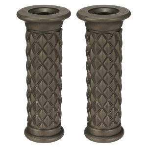 7/8inch Universal Motorcycle Cafe Racer Classic Rubber Handlebar Hand Grips Bar