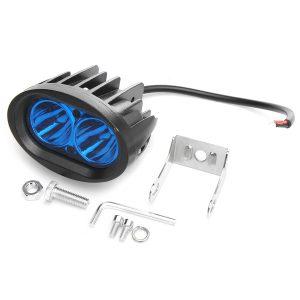 9-60V DC 20W Blue Light Waterproof LED Headlights Stainless Steel Forklift Warning Lamp
